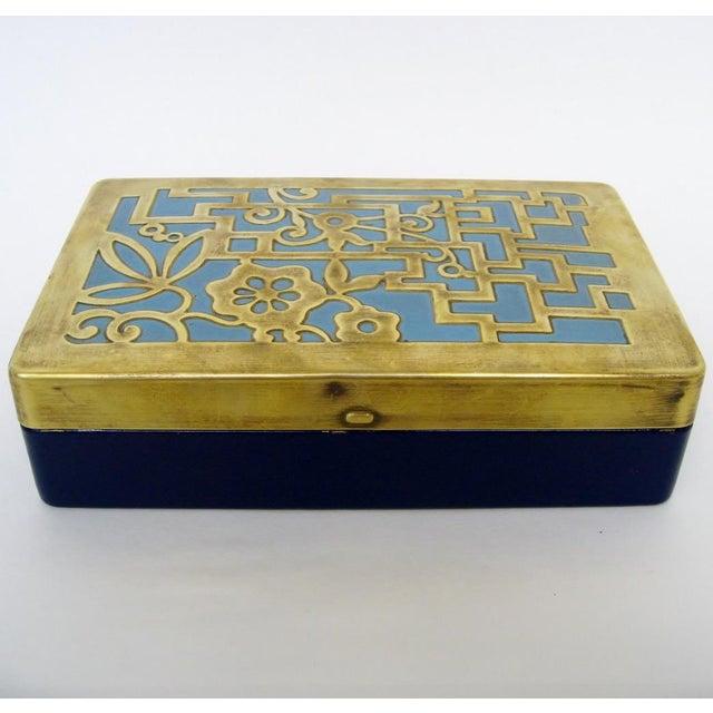 Vintage German Brass & Enamel Box - Image 4 of 6