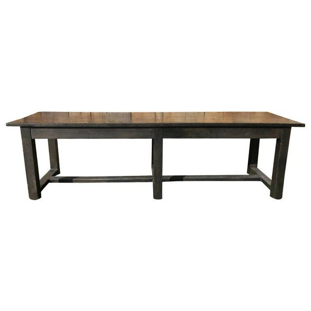 19th Century Painted Farm Table For Sale - Image 5 of 5