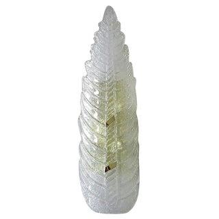 Vintage Mazzega Italian Murano Glass Leaf Sconce For Sale