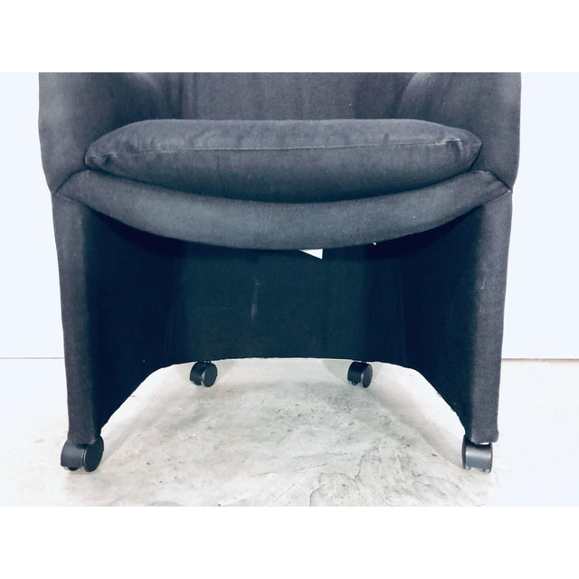 Thayer Coggin Black Denim Dining Arm Chairs- a Pair For Sale - Image 11 of 13