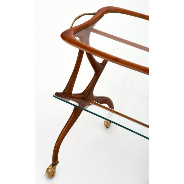Italian Modernist Magazine/Bar Cart by Cesare Lacca For Sale In Austin - Image 6 of 11