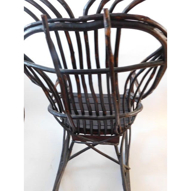 Brown 20th C. American Adirondack Twig Willow Rocking Chair For Sale - Image 8 of 13