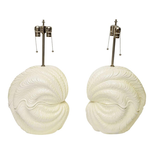 Serge Roche Shell Lamps, Oversized from the 1960s For Sale
