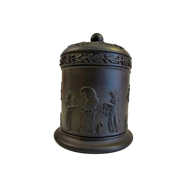 Wedgewood Black Lidded Container - Image 1 of 5