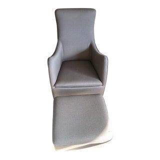 Wittmann Senta Lounge Chair & Ottoman For Sale