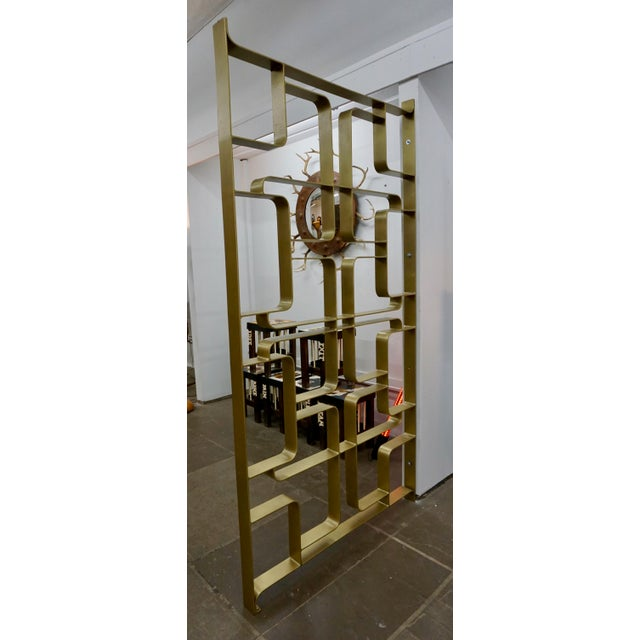 Brass and Steel Room Dividers or Gates - a Pair For Sale In Palm Springs - Image 6 of 7