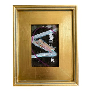 """""""Riverboat Journey"""" Mini Painting With Gold Frame For Sale"""