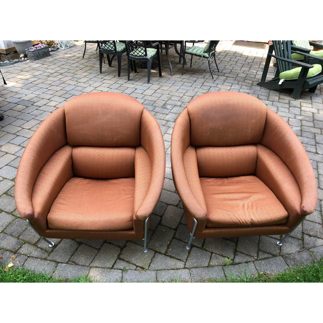 1980s Vintage Milo Baughman for Thayer Coggin Boldido Lounge Chairs - a Pair For Sale In Boston - Image 6 of 12