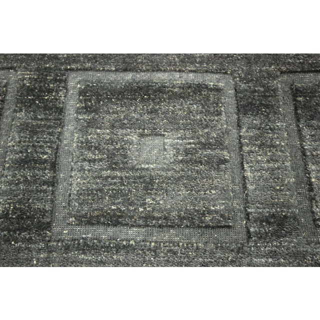 "Square Black Gabbeh Kashkuli Rug - 6'8"" x 10' - Image 6 of 10"