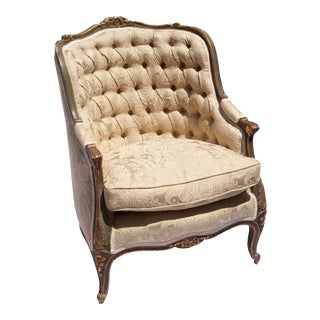 18th Century Antique Italian Provincial Armchair For Sale