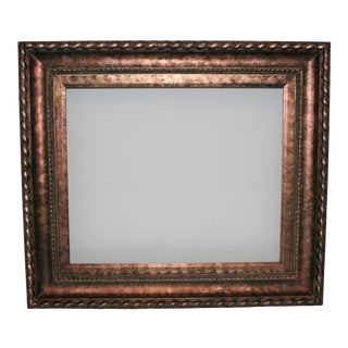 """Vintage Ornate Museum Quality Red Copper Tone Wood Frame 20"""" X 24"""" For Sale"""
