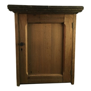 19th Century Country Walnut Cabinet With Cubbies For Sale
