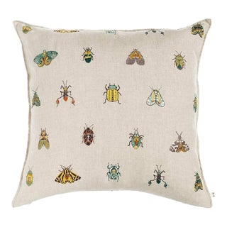 Contemporary Linen Wings Pillow For Sale