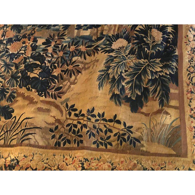 A 17th / Early 18th Century Flemish Pastoral Tapestry Prov. Christies NYC. For Sale - Image 10 of 12