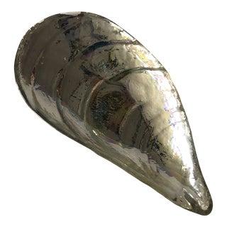 Mercury Glass Clam Shell Shape Decorative Glass Dish For Sale
