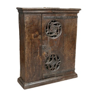 English Gothic Oak Hanging Cabinet For Sale