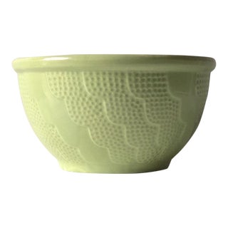 Rare Green Roseville Pottery Mixing Bowl, 785/9 Rrrco, 9 For Sale