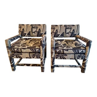 Mid Century Parsons Chairs Milo Baughman For Sale