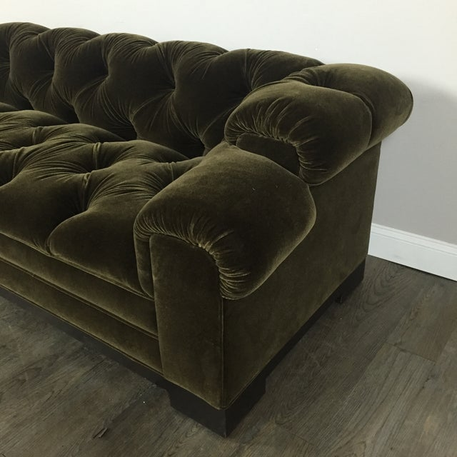 Tufted Green Mohair Sofa - Image 9 of 11