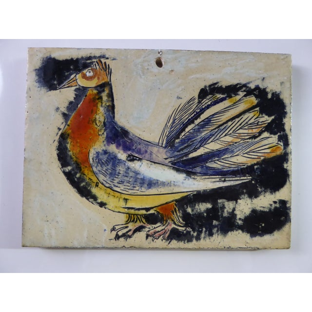 Red 1950s Swiss Modern Pottery Wall Plaques by Philippe Lambercy - Set of 3 For Sale - Image 8 of 13