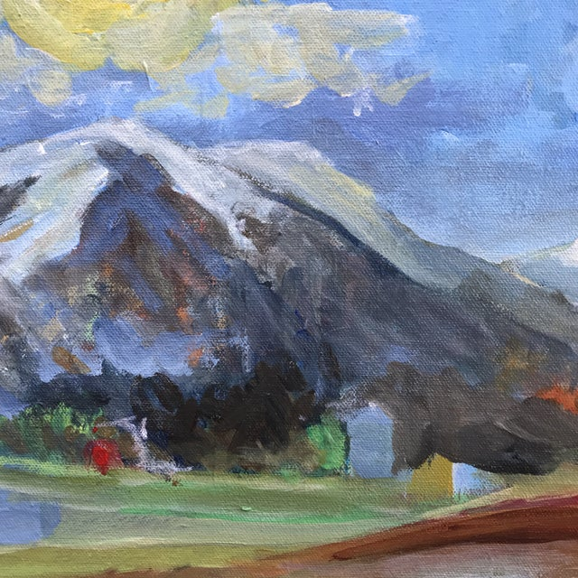 """Abstract """"Big Sky Country"""" Original Painting by Mary Houston For Sale - Image 3 of 6"""