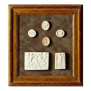 Antique Framed Plaster Intaglios For Sale