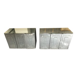 Iconic Ello Mirrored Wall Mounted Cabinets - a Pair