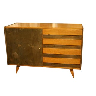 1960s Mid-Century Modern Cabinet With Drawers and Key For Sale