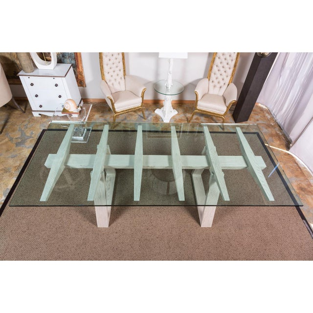 Glass Paul Marra Vertebrae Dining Table For Sale - Image 7 of 11