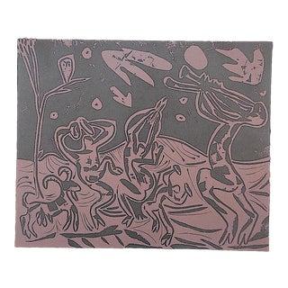 """Vintage Mid 20th C. Ltd. Ed. Picasso Lithograph""""Les Danseurs Au Hibou"""" For Sale"""
