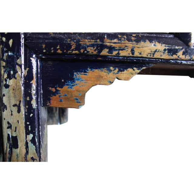 Blue Dark Blue Altar Sideboard For Sale - Image 8 of 9