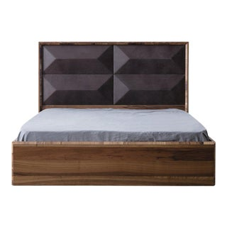 Statements by J Mario Upholstered Wood Bed For Sale
