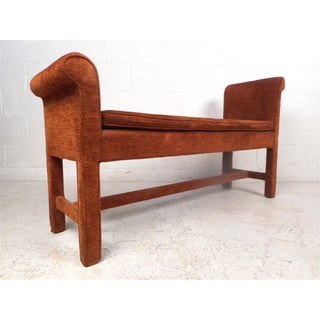 Vintage Modern Upholstered Settee Bench Preview