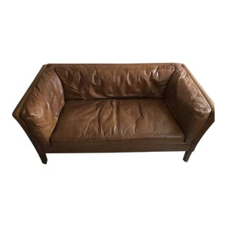 Restoration Hardware Sorensen Leather Sofa