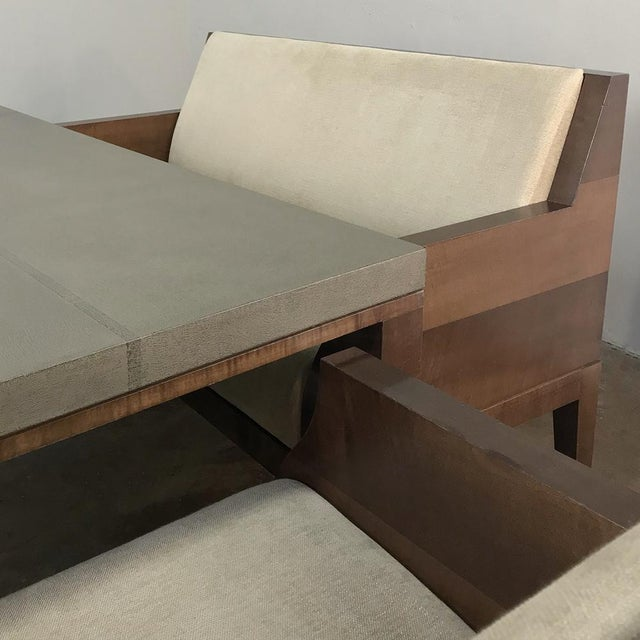 Designer Table & 4 Matching Benches by Christian Liaigre For Sale - Image 12 of 13