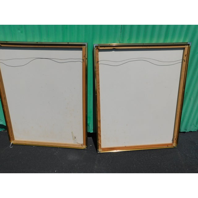1980s Franco Mid-Century Pictures - a Pair For Sale - Image 4 of 10