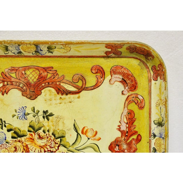 1940s Occupied Japan Papier Mache Tray For Sale - Image 4 of 7