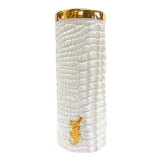 Waylande Gregory Crocodile Vase For Sale