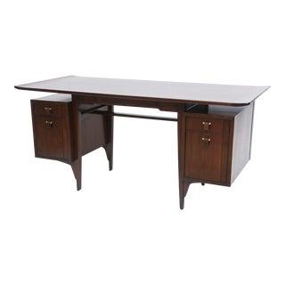 Fine and Unusual American Modern Dark Walnut Desk, Edward Wormley For Sale