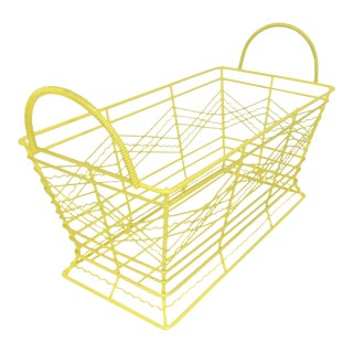 Contemporary Electric Yellow Bathroom Metal Wire Toiletries Catchall