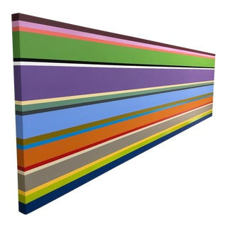 Long Abstract Color Block Painting For Sale