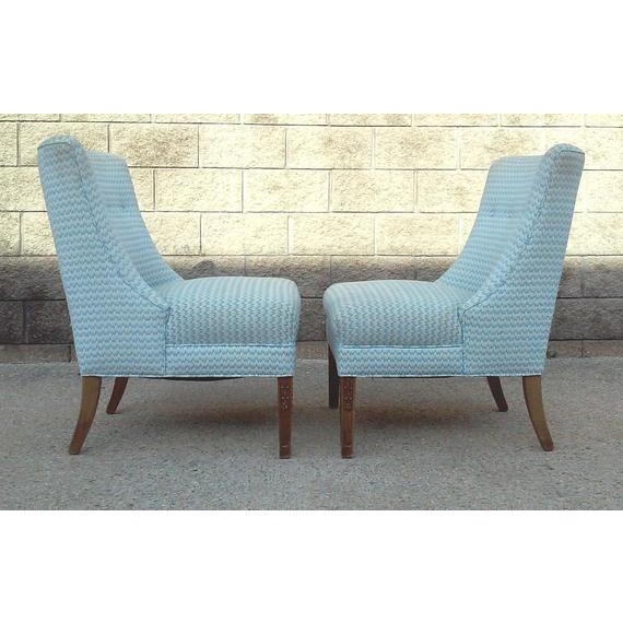 Regency Armless Chairs-A Pair For Sale - Image 4 of 7
