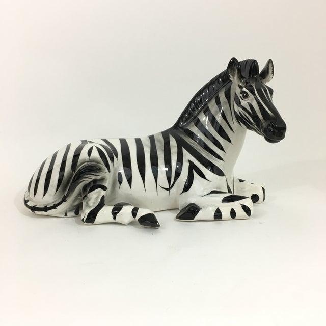 1960s Zebra Ceramic Figure Statue For Sale - Image 5 of 10