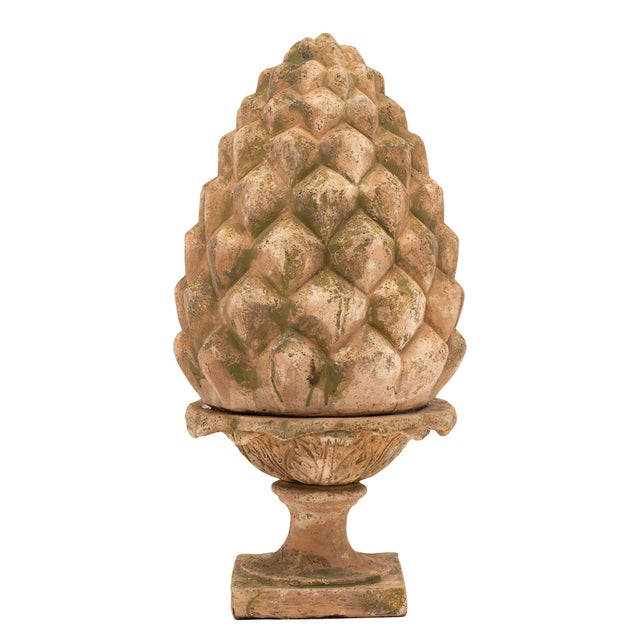 Art Deco French Vintage Terracotta Pine Cones - a Pair For Sale - Image 3 of 10