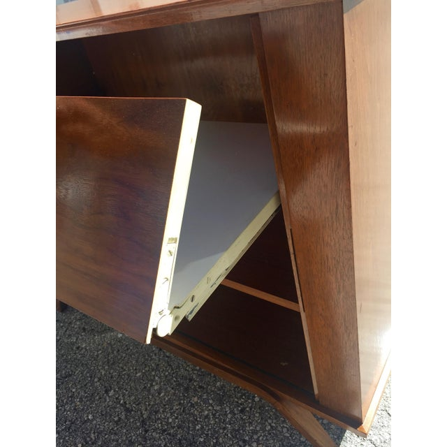 15th Century & Earlier 1960 Walnut Cabinet With Roll Doors/Work Station Desk For Sale - Image 5 of 10