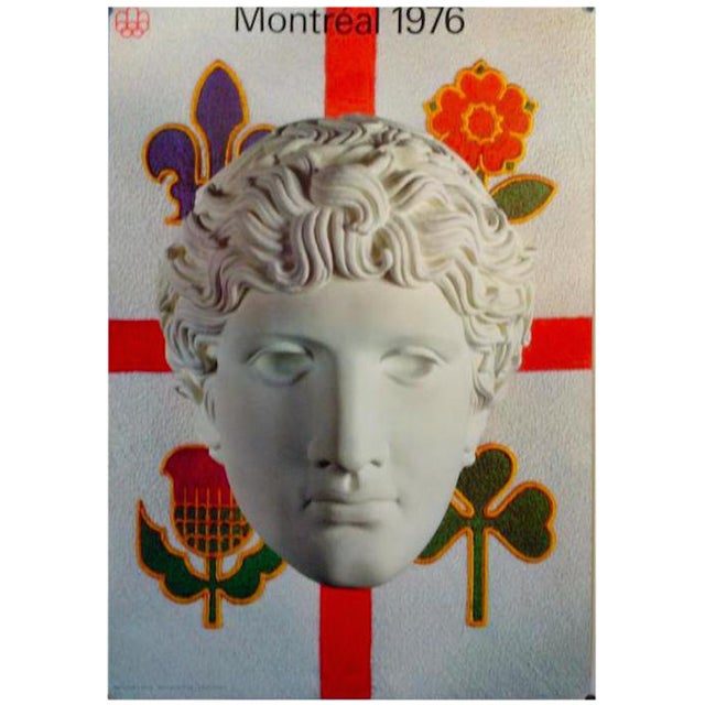 """1976 """"Classical Statue"""" Montreal Olympic Poster For Sale"""
