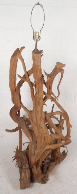 Mid Century Modern Driftwood Floor Lamp   Image 5 Of 10