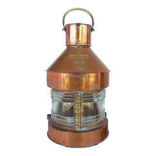 Masthead Copper and Brass Ship's Lantern by C. Murray Ltd. (Glasgow, Scotland)