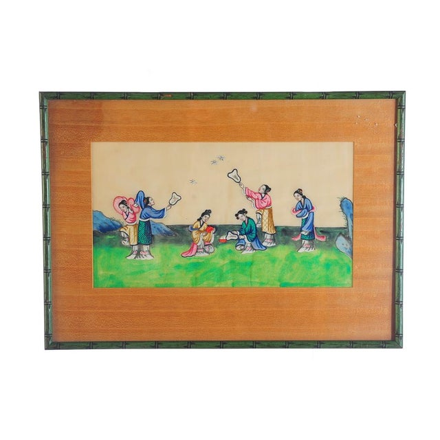 Chinese Antique Rice Paper Painting For Sale