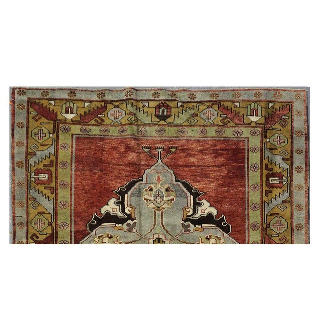 Islamic Vintage Turkish Oushak Rug - 4'11' 'x 11'7'' For Sale - Image 3 of 3